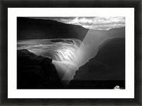 Gullfoss Picture Frame print