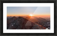 Running on the ridge Picture Frame print