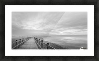 The long wooden footbridge. Picture Frame print