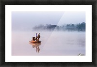 Fishing on Foggy Lake Picture Frame print