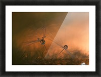 Forest fire Picture Frame print