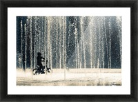 Ride through the drops Picture Frame print