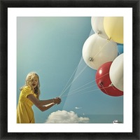fly me to the moon Picture Frame print