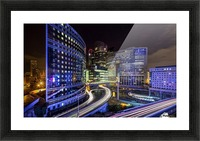 Night traffic Picture Frame print