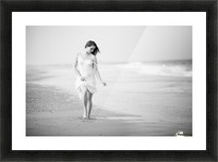 A Walk on the Beach Picture Frame print