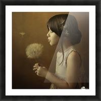 A Dandelion Poem Picture Frame print