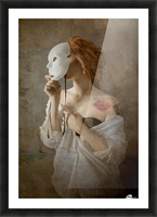 seeing through the mask Picture Frame print