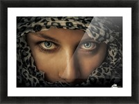 Woman with scarf Picture Frame print