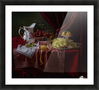 Still life in the Dutch style with a jug Picture Frame print