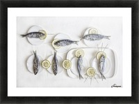 Still Life with Fish Picture Frame print