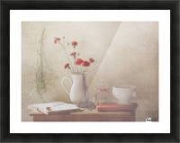The Red Flowers Picture Frame print