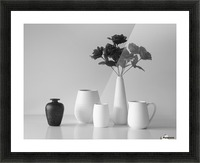 Still Life in Black and White Picture Frame print