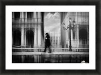 dry footed walk Picture Frame print