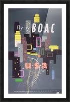 Original 1954 BOAC USA Travel Poster Picture Frame print