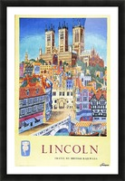 Lincoln vintage travel poster for British Railways Picture Frame print