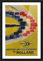 British United Airlines to Holland travel poster Picture Frame print