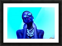 Blue Black Picture Frame print