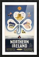 Vintage BR Irish Shamrock Travel poster Picture Frame print