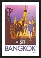 Visit Bangkok Picture Frame print