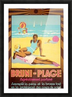 Bruni Plage Picture Frame print