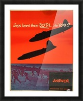 Recognition test vintage poster Picture Frame print