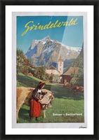 1960 Grindelwald Switzerland original vintage poster Picture Frame print