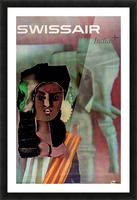 Swiss Air India Travel Art Poster Picture Frame print