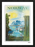 Norway Picture Frame print