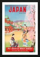 Pan American World Airways Japan Spring in Kyoto Picture Frame print