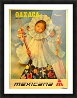 Oaxaca Mexico 1969 travel poster for Mexicana Airlines Picture Frame print