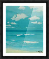 Gone to the beach. Picture Frame print
