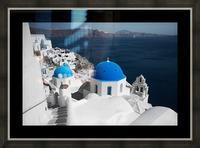 Blue Church Picture Frame print
