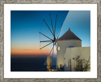 Mills Oia Night Picture Frame print