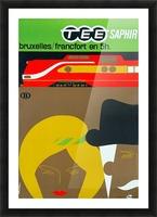 Affiche TEE Saphir, 1962 Picture Frame print