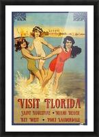 Visit Florida Picture Frame print