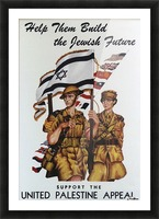 1942 United Israel appeal poster Picture Frame print