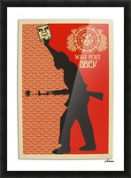 Wage Peace Obey poster Picture Frame print