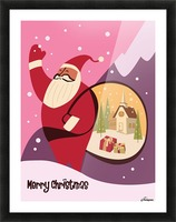 Christmas in Vermont travel poster Picture Frame print