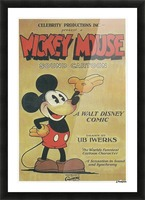 Mickey Mouse Sound Cartoon Picture Frame print