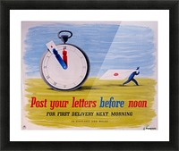 Post your letters before noon Picture Frame print