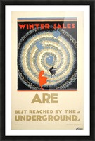 Winter sales are best reached by the underground Picture Frame print