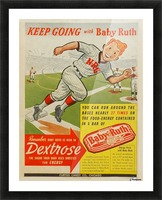 Keep going with Baby Ruth Picture Frame print