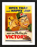 American anti Japanese propaganda from World War II Picture Frame print