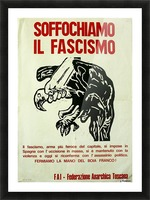 Suffocate fascism Picture Frame print