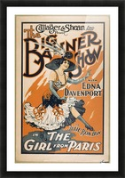 The Girl from Paris Picture Frame print