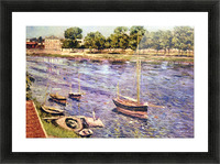 The Marne by Caillebotte Picture Frame print