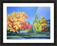 College Trees Picture Frame print