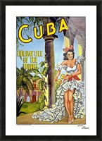 Cuba Holiday Isle of the Tropics poster Picture Frame print