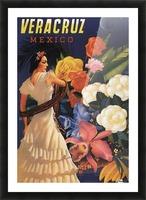 Veracruz Mexico Vintage Tourism Poster, 1940 Picture Frame print