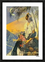 Mexico Veracruz vintage travel poster Picture Frame print